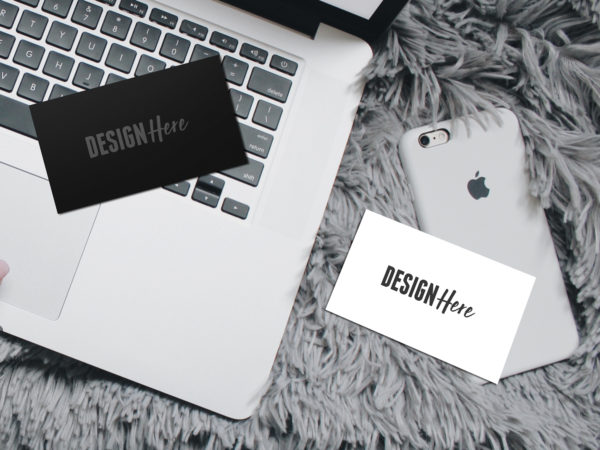 Business Card On Macbook