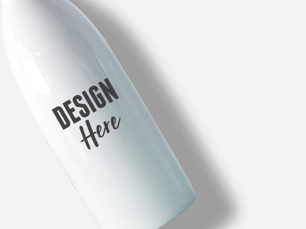 bottle closeup mockup
