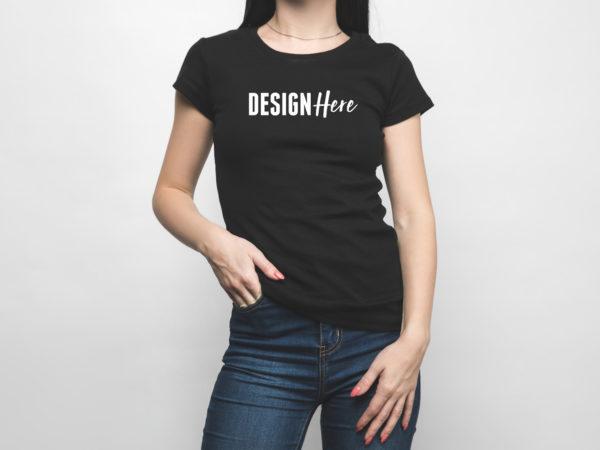 front tshirt mockup women