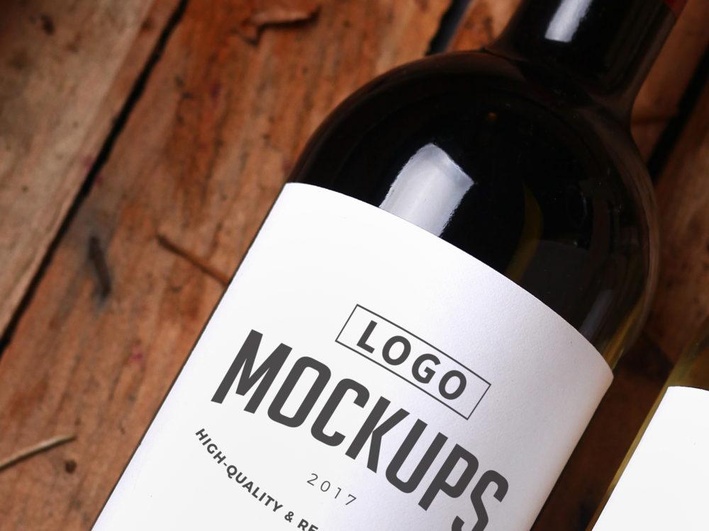 wine label closeup mockup