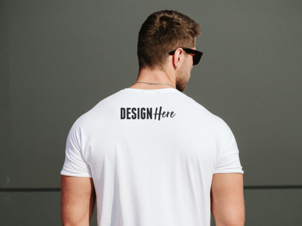 back tshirt mockup