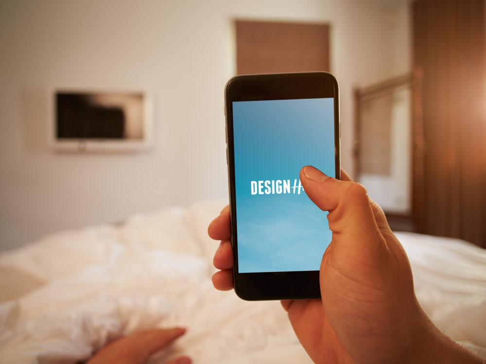 smartphone in hands mockup