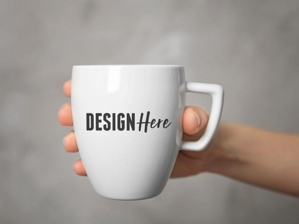 Mug in Hands Mockup