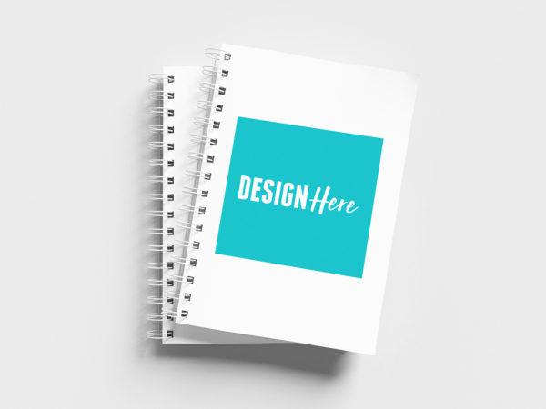 Wire Bound Notebook Mockup
