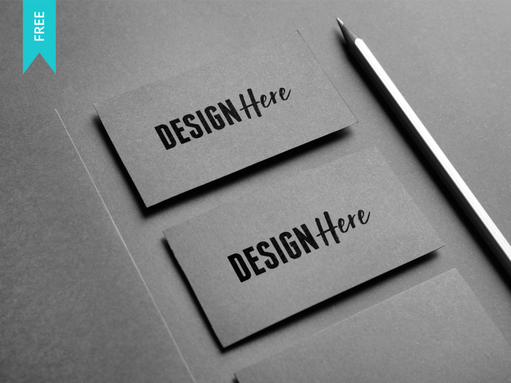 Free business card mockup psd mockup template download now black business card mockup wajeb Image collections
