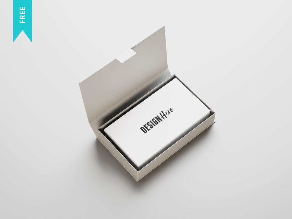 Free business card mockup psd mockup template download now business card in box mockup wajeb