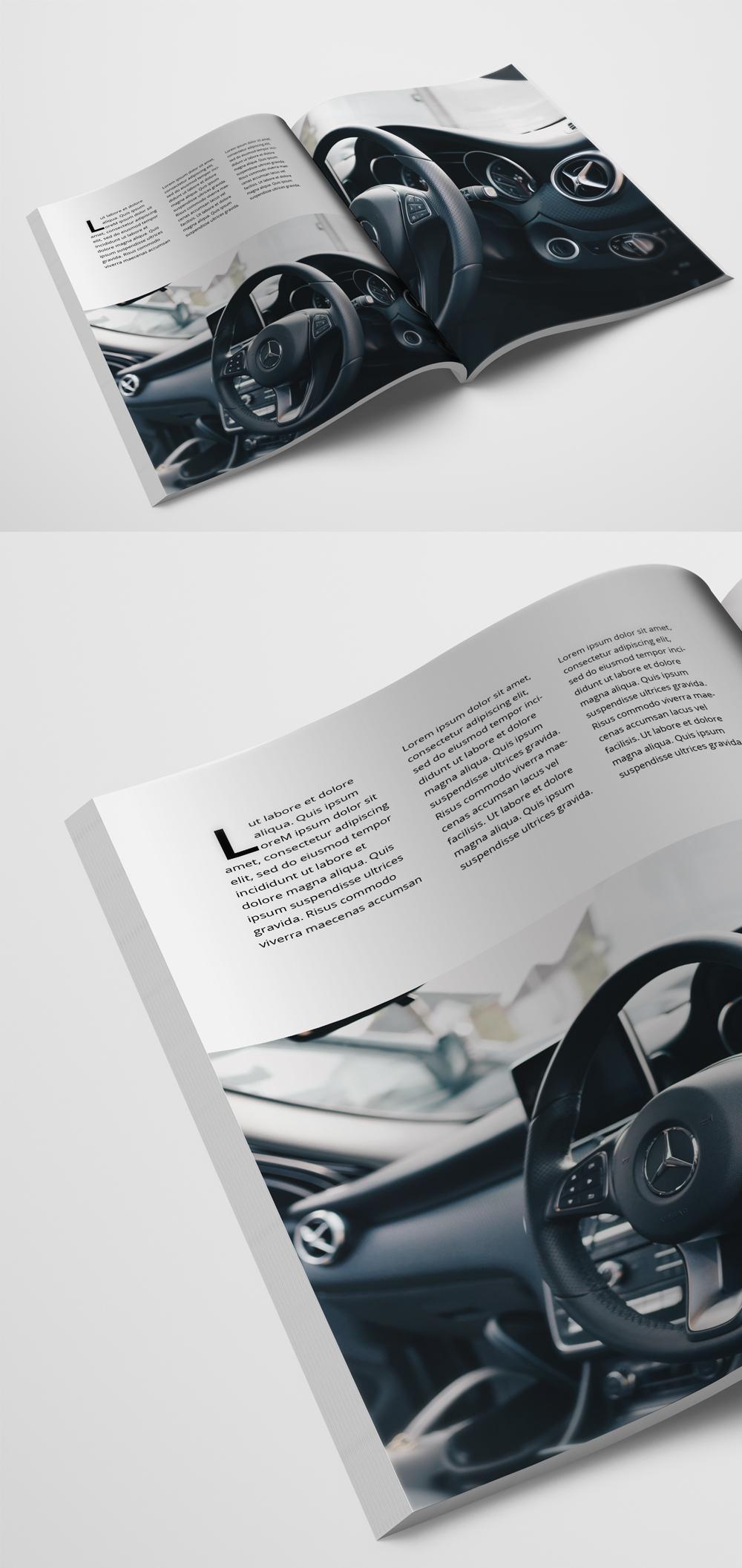 "8.5"" x 11"" Booklet/Magazine Mockup"