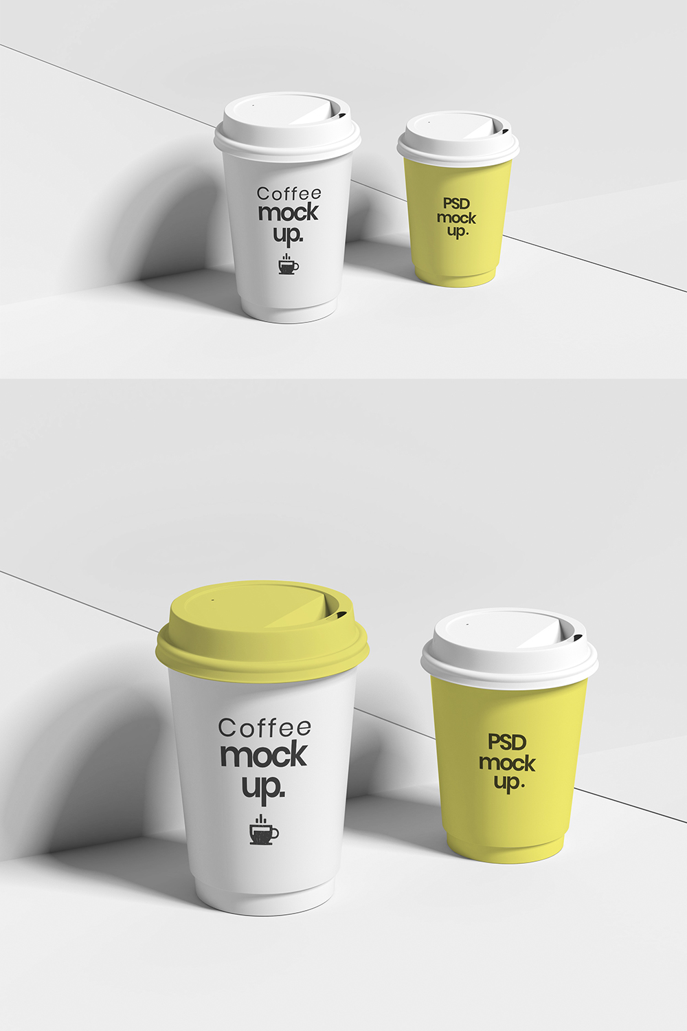 White Coffee Cup Mockups