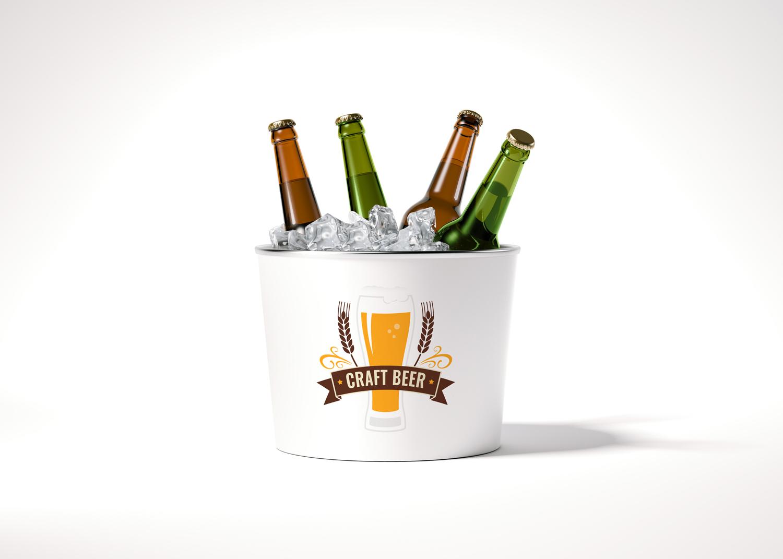 Beer Barrel PSD Mockup
