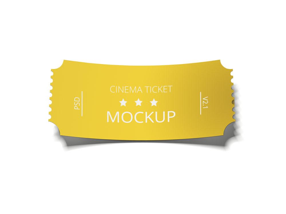Realistic Ticket Mockup