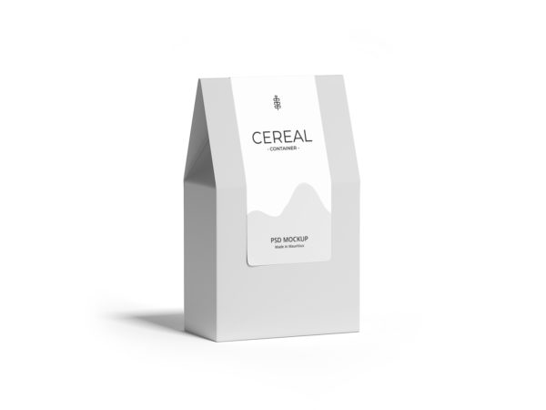 Paper Container Box Mockup
