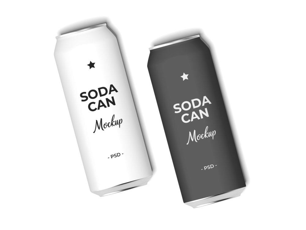 Realistic Soda Can Mockup