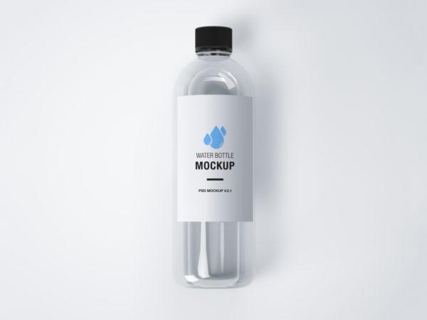 Realistic Water Bottle Mockup