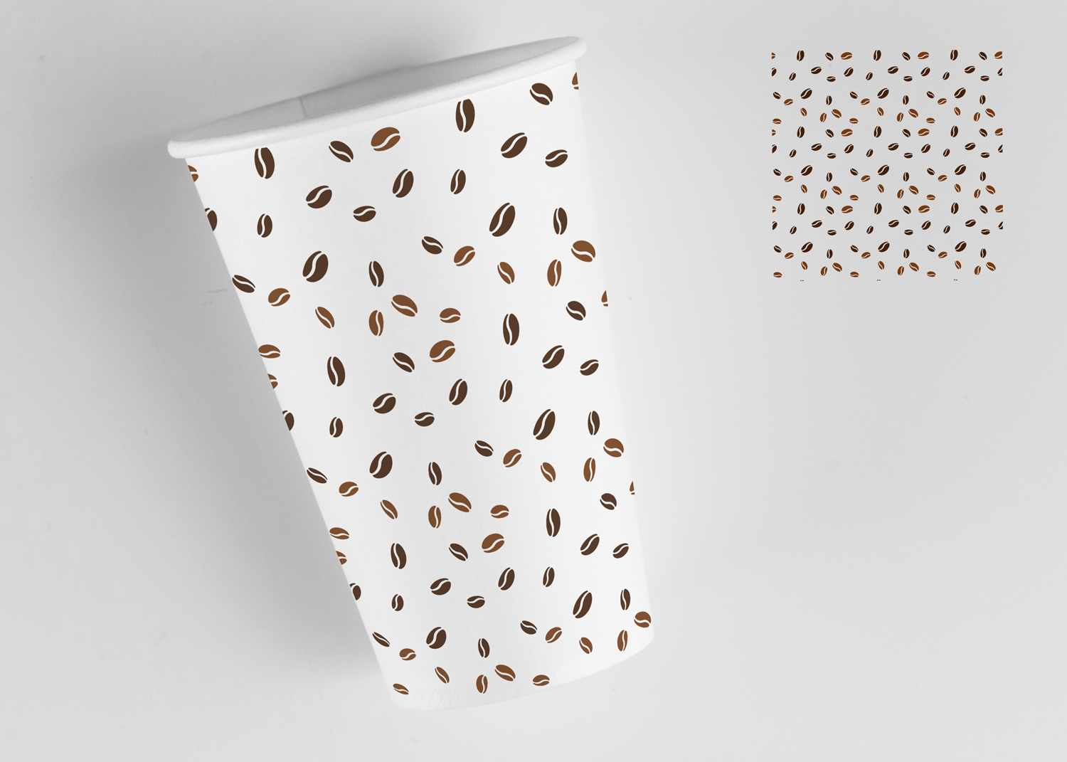 white paper cup mockup