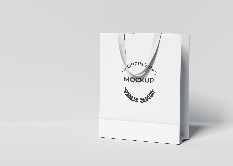 White Shopping Bag Mockup - Realistic Bag Mockup - Download Now