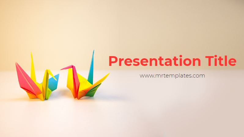 Origami Powerpoint Template Graphicxtreme