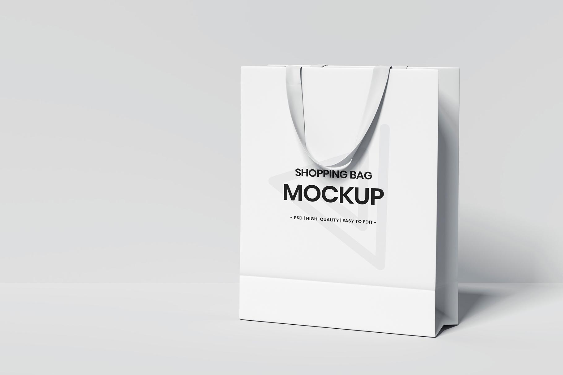 Shopping Bag Mockup On White Background Graphicxtreme