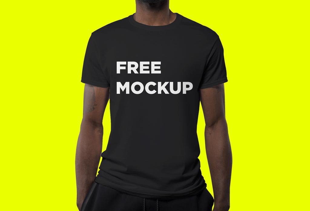 black t shirt mockup 1