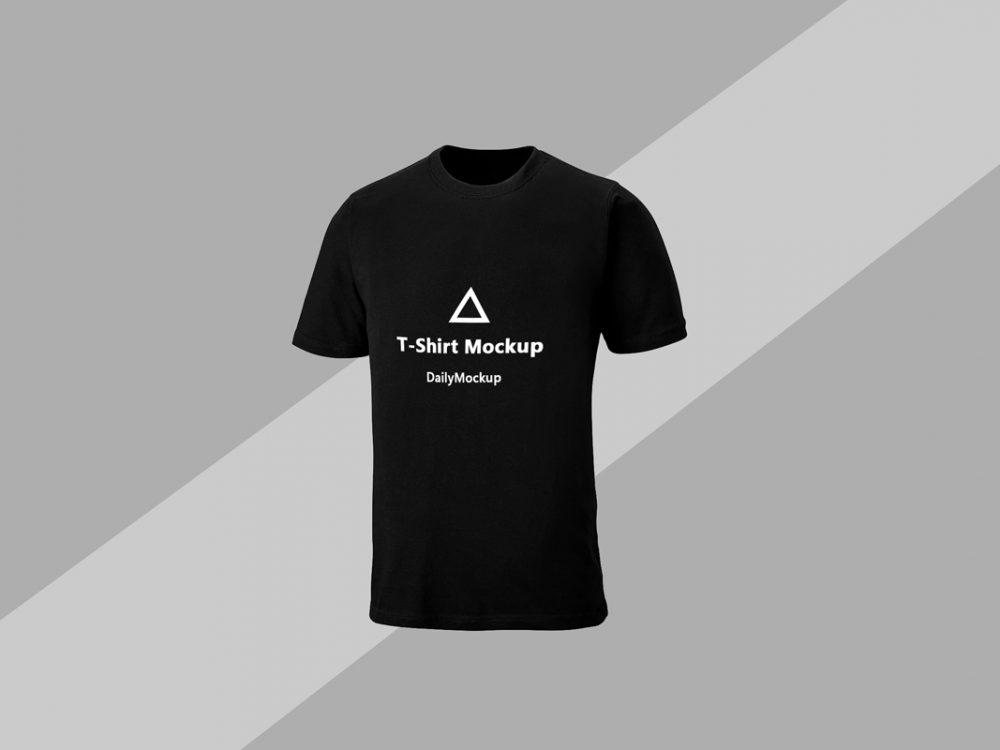 black t shirt mockup 3