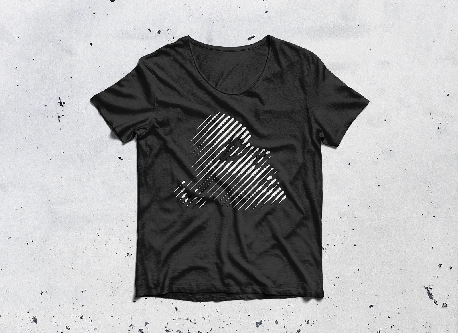 black t shirt mockup 4