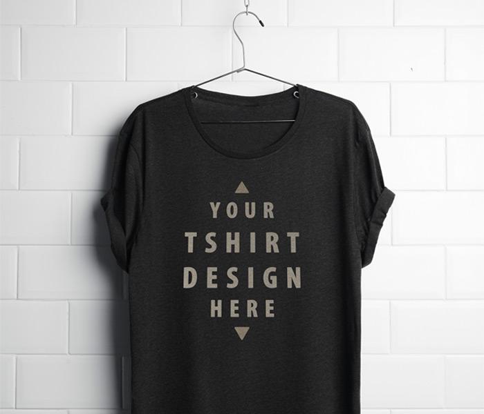 black t shirt mockup 5