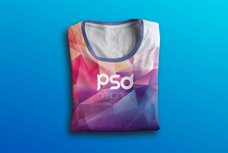 Folded T-Shirt Mockup PSD