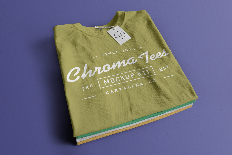 Stacked Folded T-Shirts
