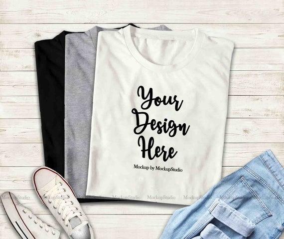 Multiple Colors Folded T-Shirts