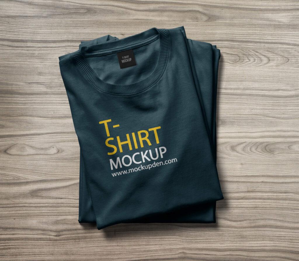 PSDFree Folded T Shirt