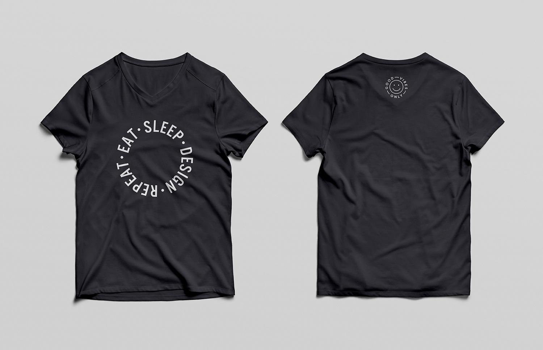 Front and Back V-Neck T-Shirt