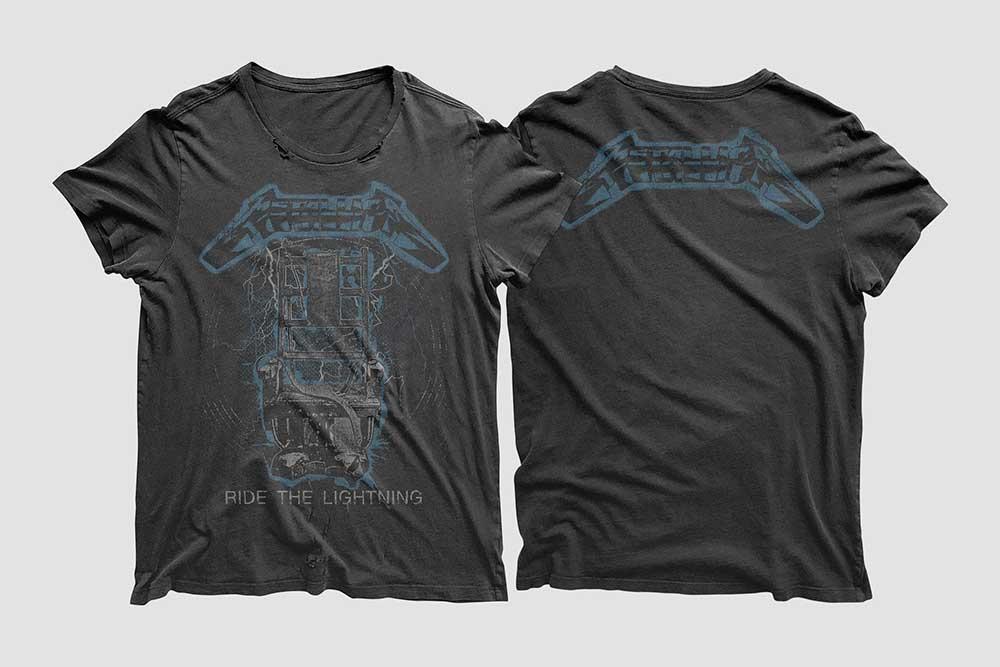 Front and BackVintage T-Shirt Mockup