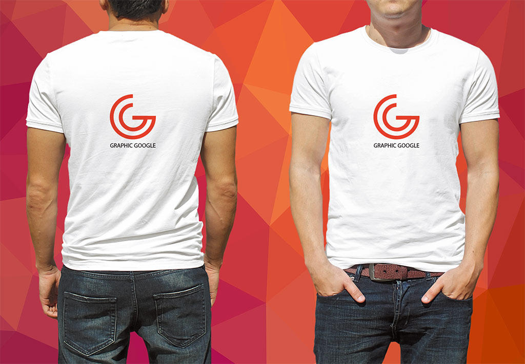 Front and back Male T-Shirt