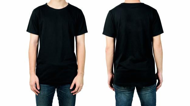 Front and Back Plain Shirt Mockup