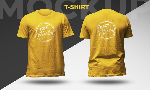 T-Shirt Front and Back View Mockup