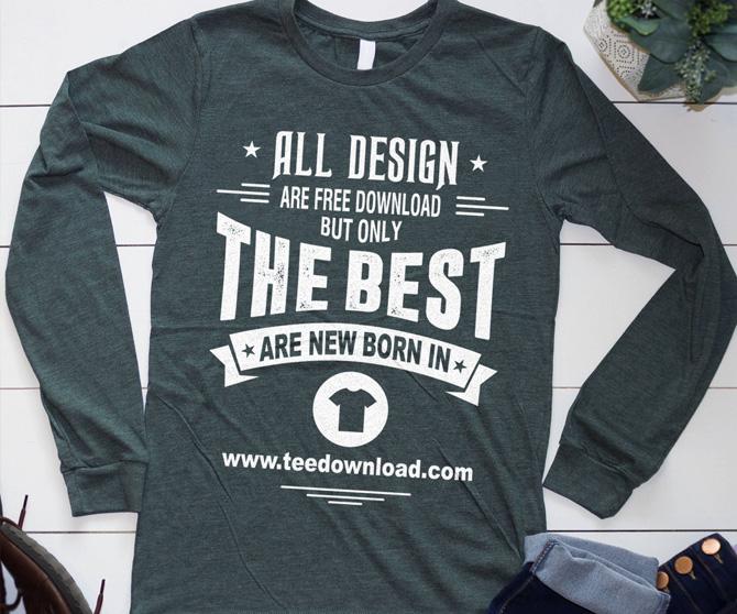 Flat Lay Long Sleeve T-Shirt