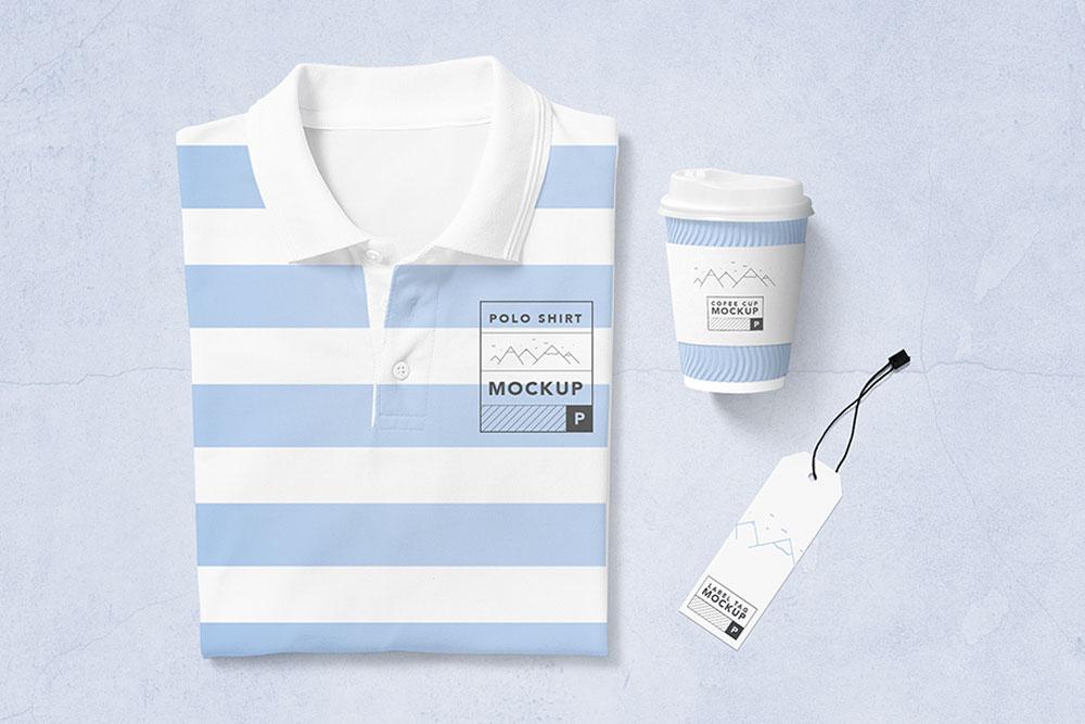 Fashionable Polo Shirt Mockup