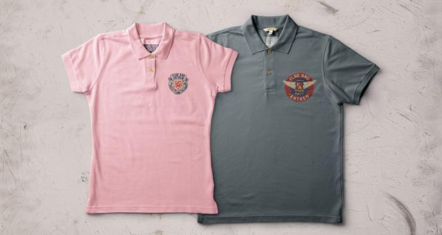 Pink and Gray Polo Shirt Mockup