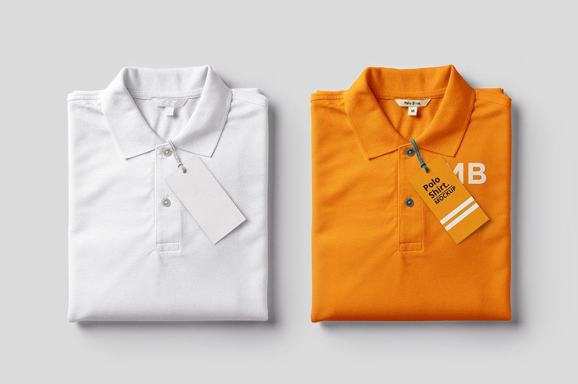 Folded Polo Shirt Mockup