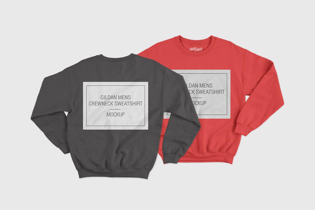 Front and Back Sweatshirt Mockup