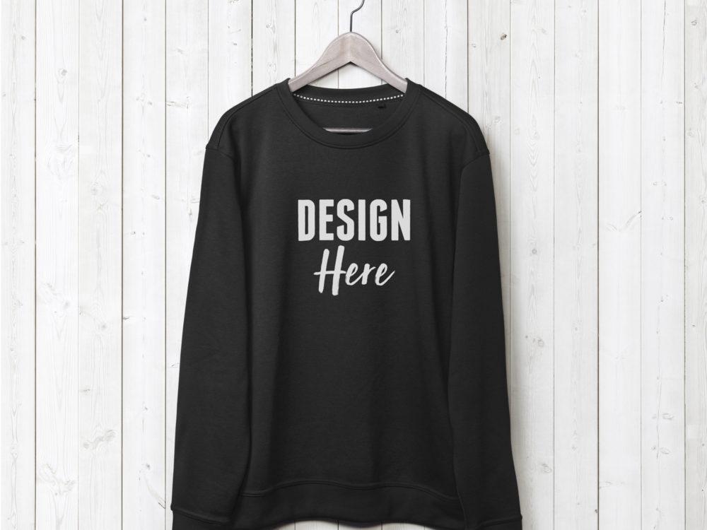 Black Sweatshirt Mockup