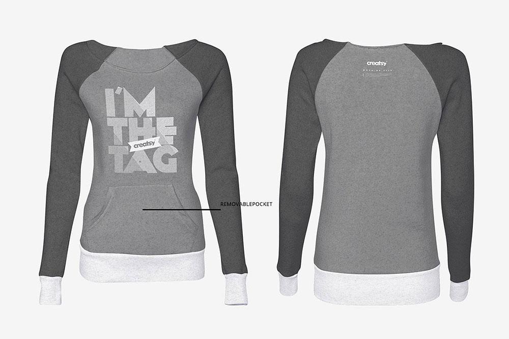 Mockup of a Woman Sweatshirt Set