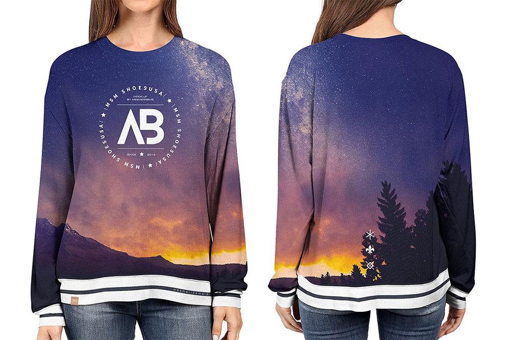 Oversized Sweatshirt Mockup