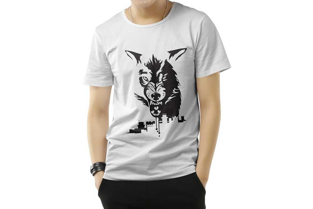 White Colored Men T-Shirt Mockup