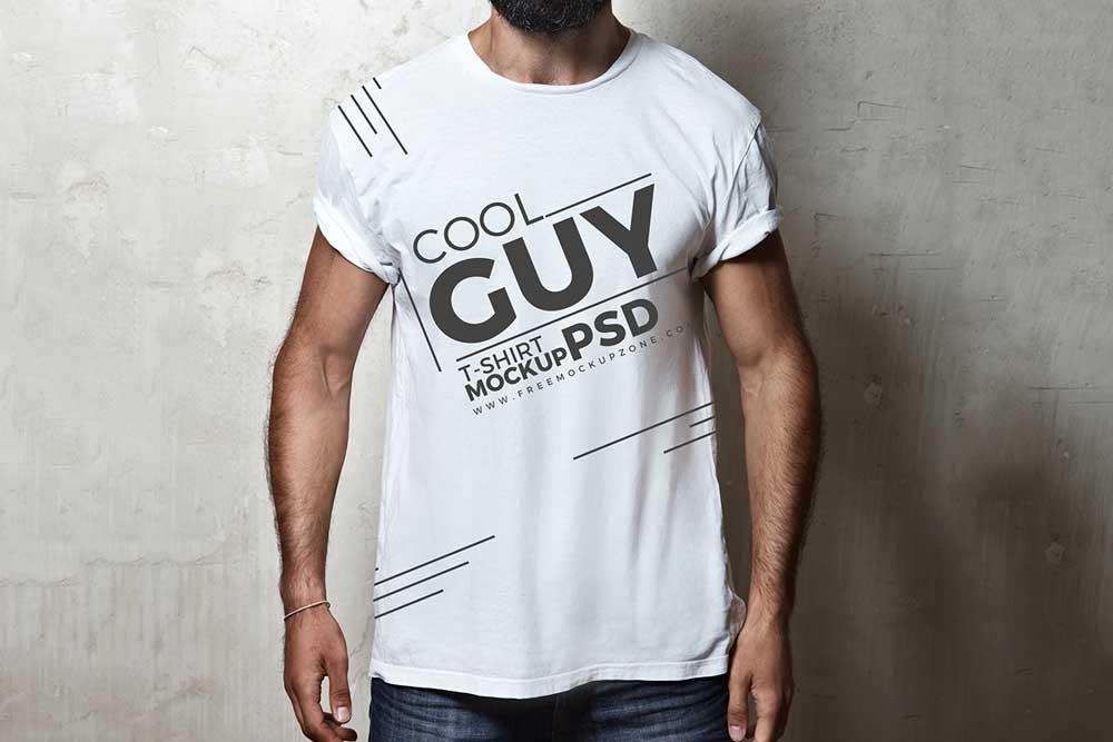 White Male T-Shirt Mockup