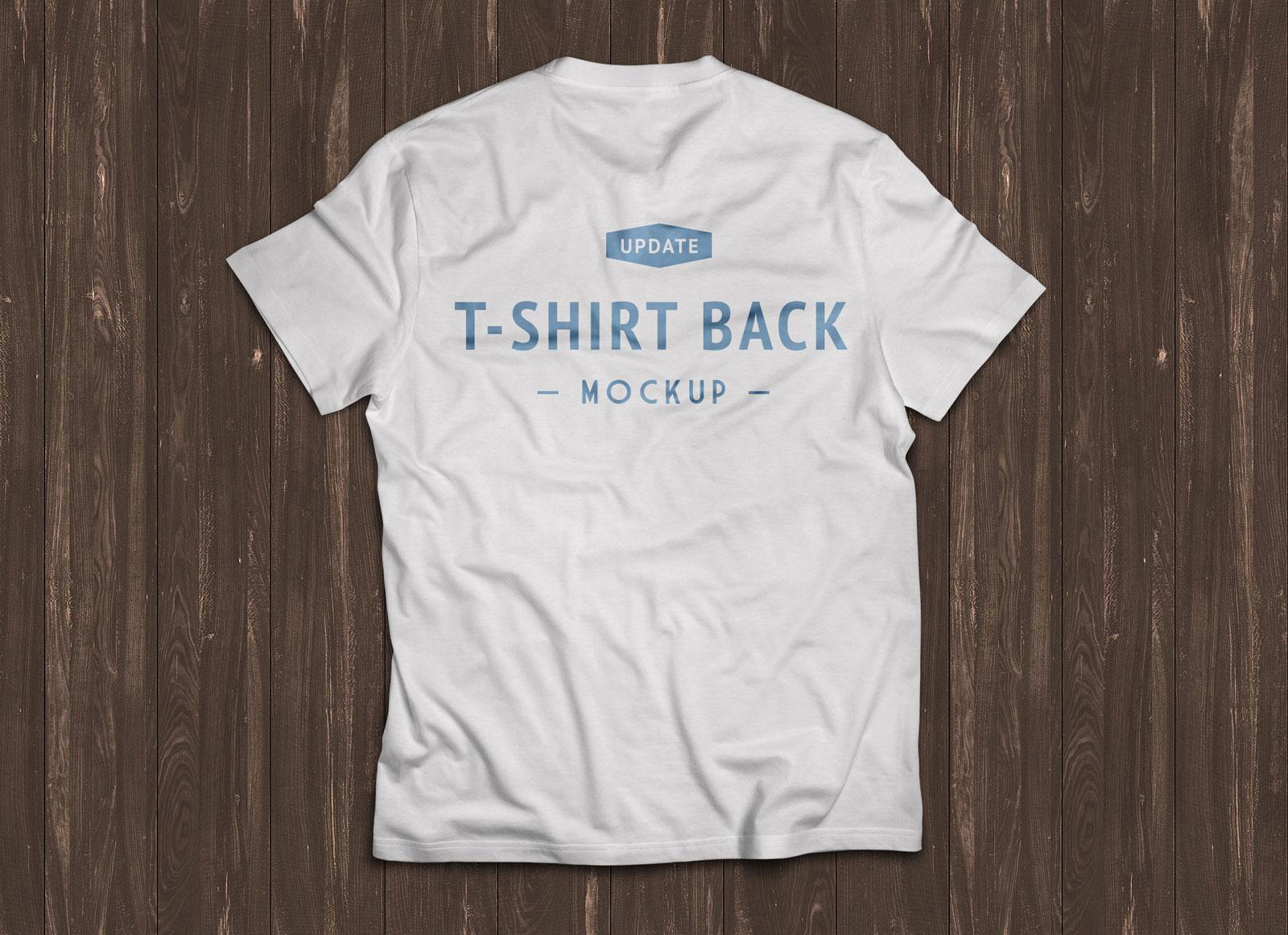 Half Sleeve White T-Shirt Mockup