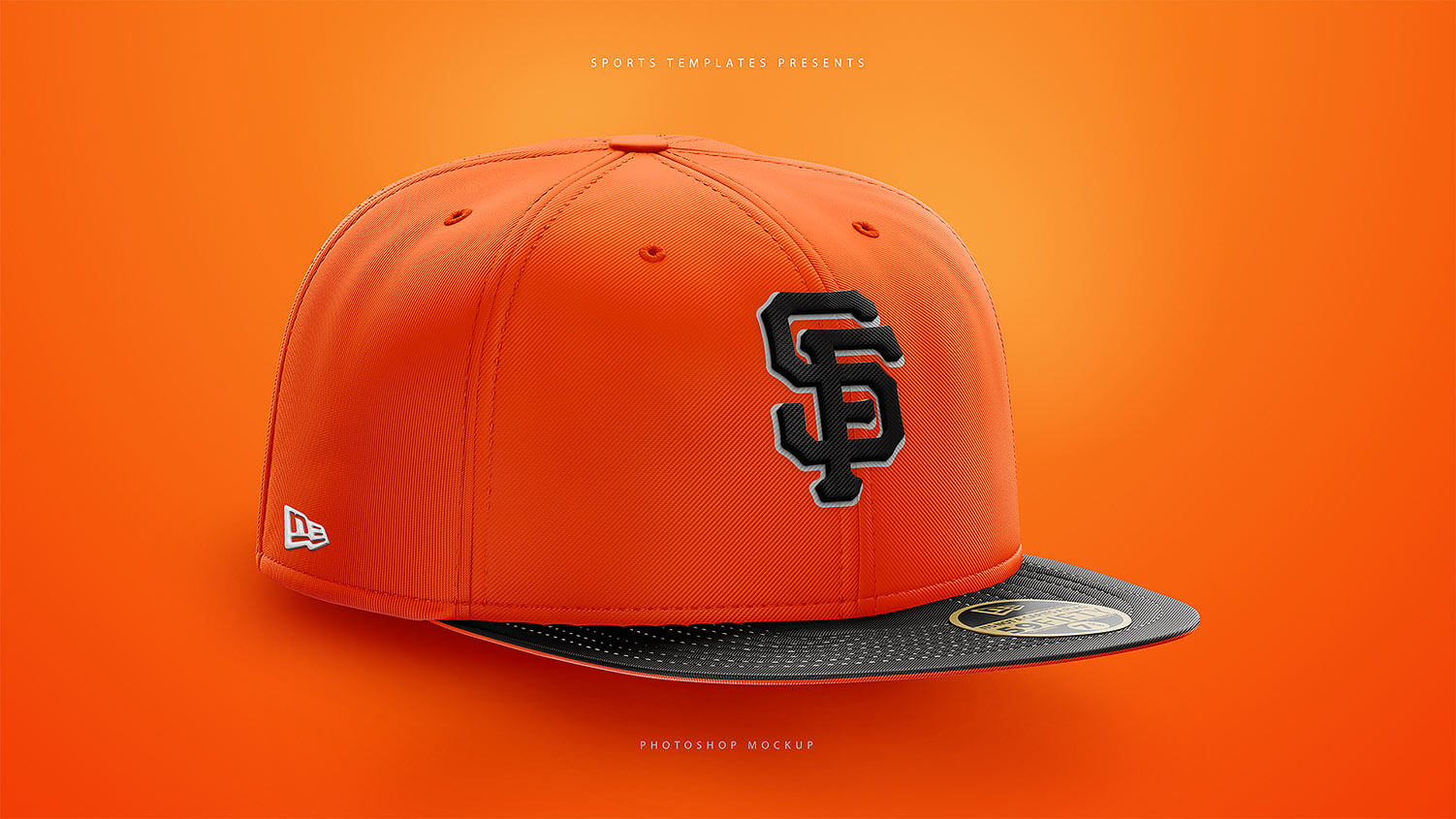 Fitted Snapback Hat Mockup