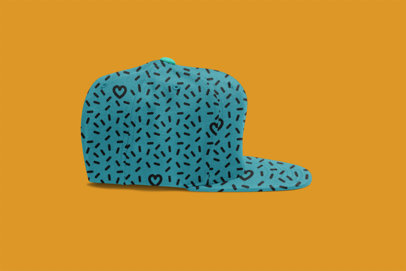 Fitted Hat with Customizable Background Mockup