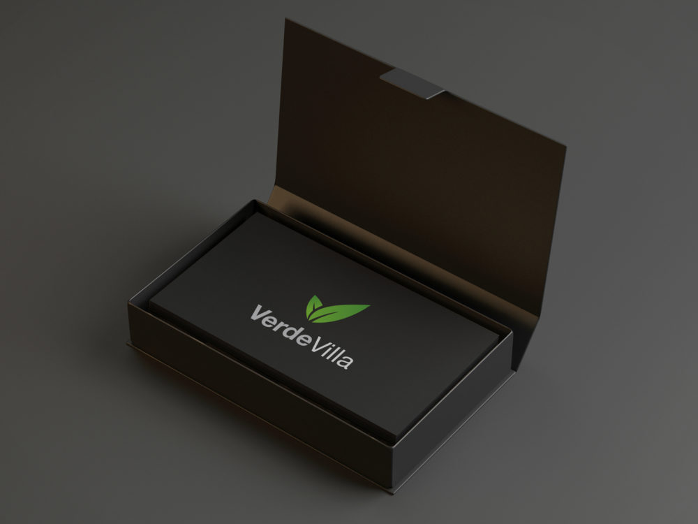 Black Business Card Mockup – GraphicXtreme