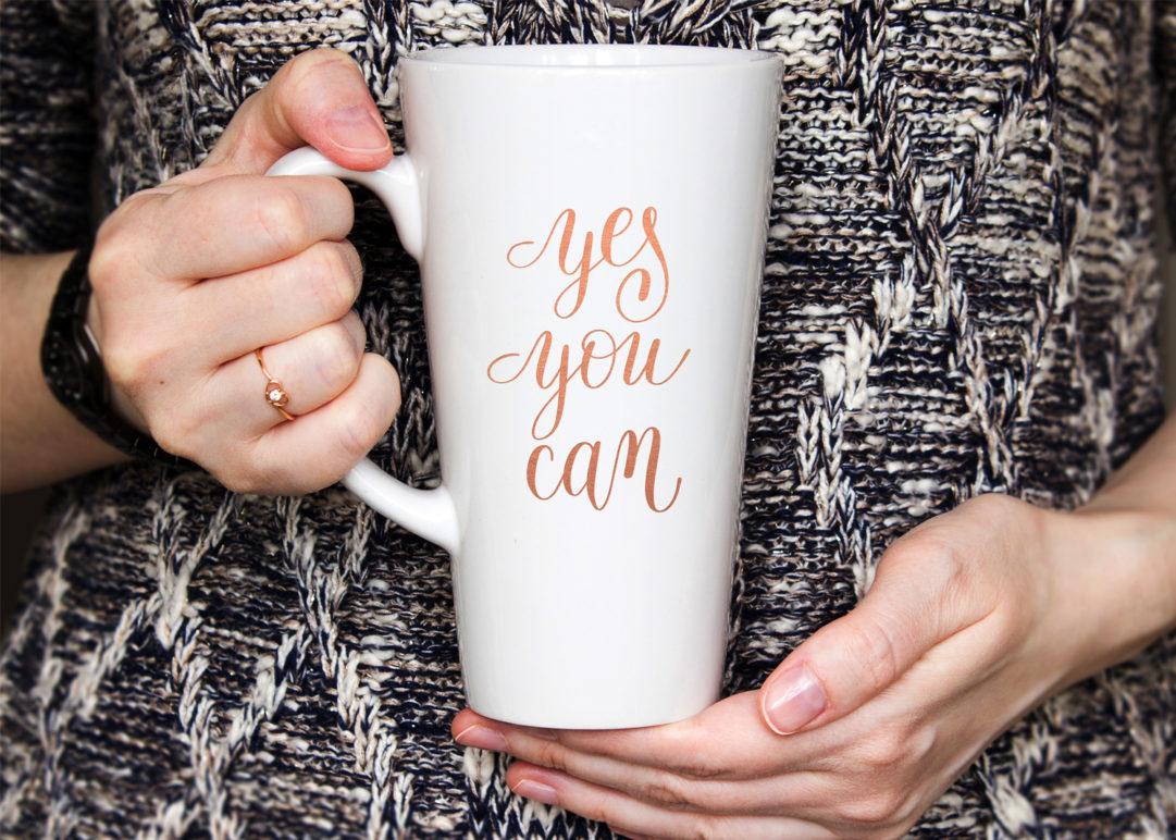 long coffee mug mockup